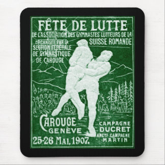 1907 Swiss Wrestling Mouse Pad