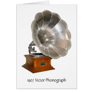 1907 Victor Phonograph, Greeting Card