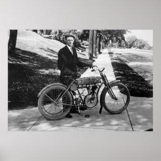 1908 Harley Davidson Co-Founder Walter Davidson Poster