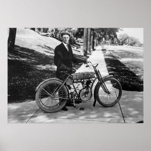 1908 Harley Davidson Co-Founder Walter Davidson Print