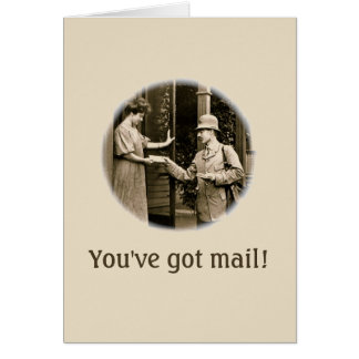 1908 Mail Greeting Card
