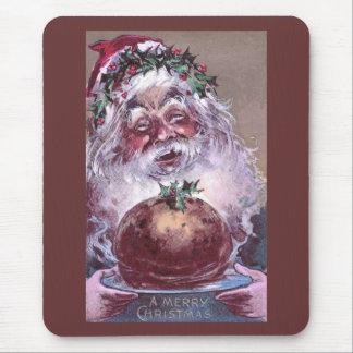 1908 Santa with Plum Pudding Vintage Christmas Mouse Pad