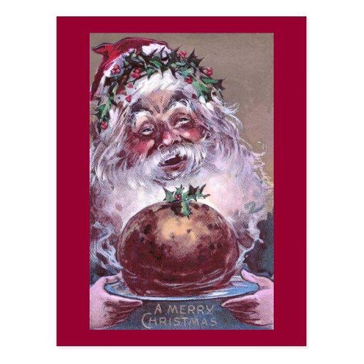 1908 Santa with Plum Pudding Vintage Christmas Post Card