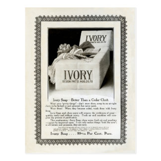"1908! ""SPRING CLEAN"" LACE TRIMMED IVORY SOAP  AD POSTCARD"