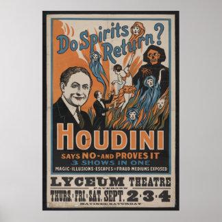 1909 Houdini Poster
