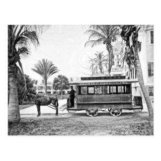 1909 Palm Beach Florida Trolley Postcard