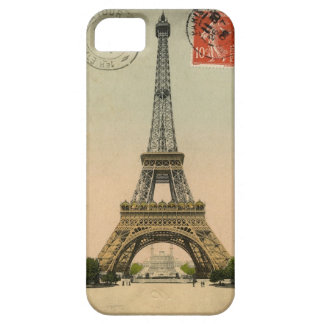 1909 Vintage Eiffel Tower Postcard Paris iPhone 5 Covers