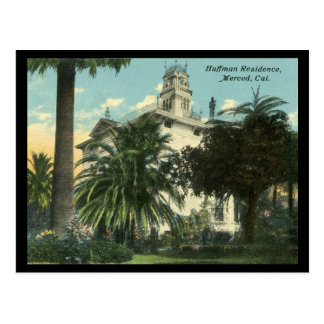 1910-1915 Huffman Mansion in Merced CA Postcard