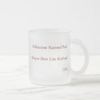1910 Aerial View Map - Yellowstone National Park Mug