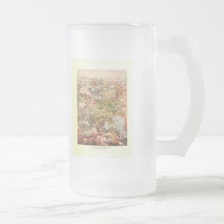 1910 Aerial View Map - Yellowstone National Park Coffee Mug