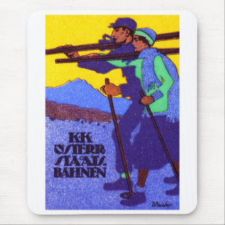 1910 Austrian Ski Poster Mouse Pad
