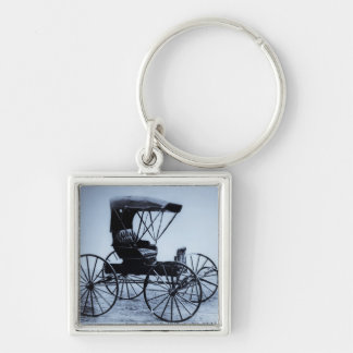 1910 Auto Seat Buggy Cyan Tone Key Ring