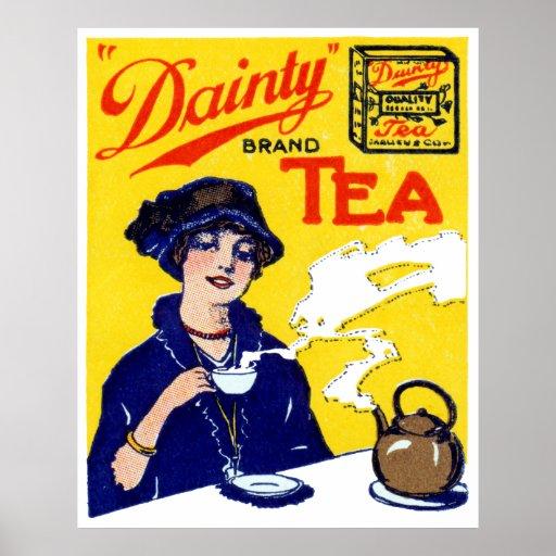 1910 Dainty Tea Poster