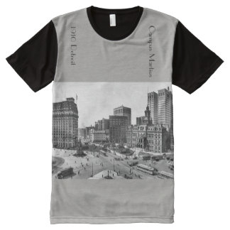 1910 Detroit Campus Martius in panoramic All-Over Print T-Shirt