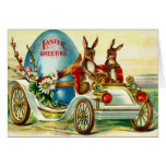 1910 Easter Rabbits Greeting! Greeting Card