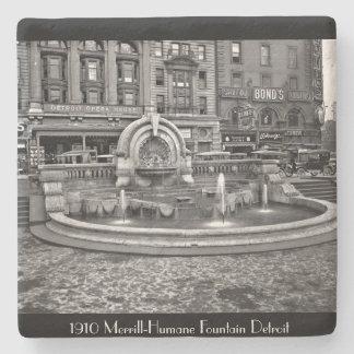 1910 - Merrill Humane Fountain Detroit Stone Coaster