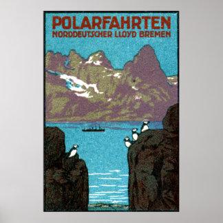 1910 Ocean Liner Poster