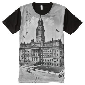 1910 - old Wayne County building Detroit All-Over Print T-Shirt
