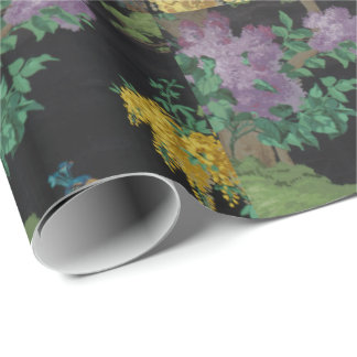 1910 Vintage Wallpaper The Cedar Tree Wrapping Paper