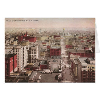 1910's View of Denver, CO from The D & F Tower Greeting Card