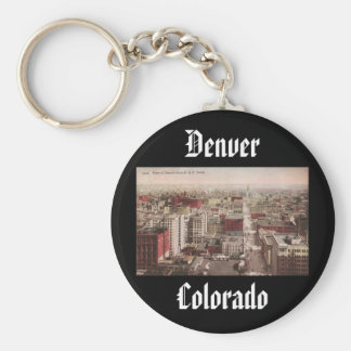 1910's View of Denver, CO from The D & F Tower Keychains