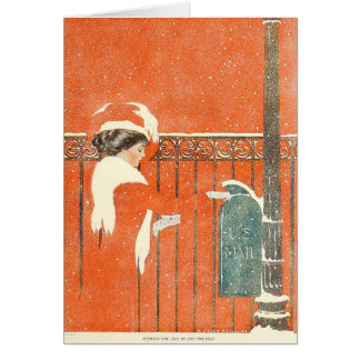 1911 Coles Phillips Xmas illustration Card