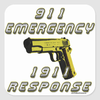 1911 Emergency Square Sticker