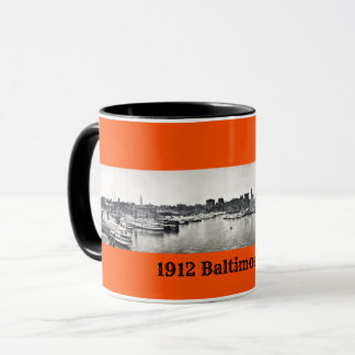 1912 - Baltimore MD Harbor in panoramic Mug