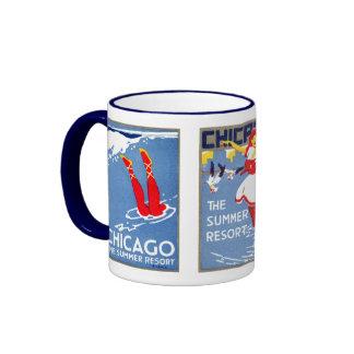1912 Chicago, The Summer Resort Ringer Mug