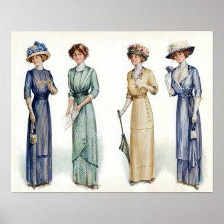 1912 Edwardian Fashion Poster