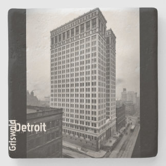 1912 - Griswold and Financial District in Detroit Stone Coaster