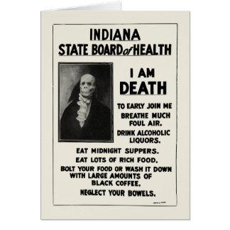 1912 Indiana Health Bulletin Greeting Card