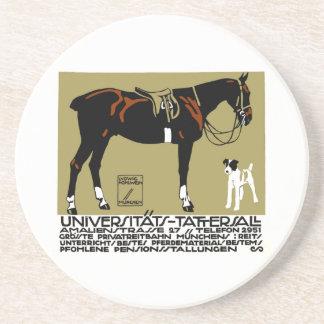 1912 Ludwig Hohlwein Horse Riding Poster Art Coaster
