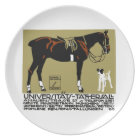 1912 Ludwig Hohlwein Horse Riding Poster Art Plate
