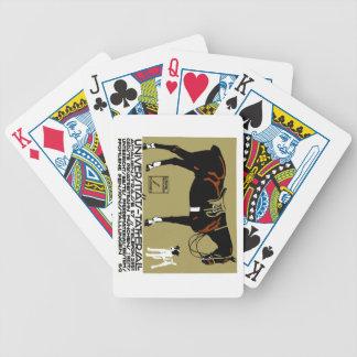 1912 Ludwig Hohlwein Horse Riding Poster Art Poker Deck
