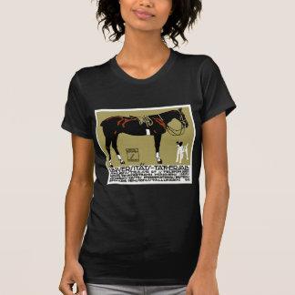 1912 Ludwig Hohlwein Horse Riding Poster Art T-Shirt