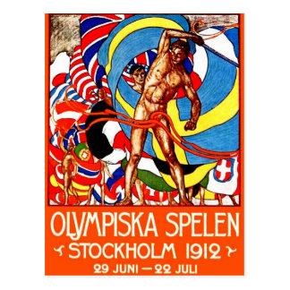 1912 Summer Olympics (vintage sports poster) ~ Postcard