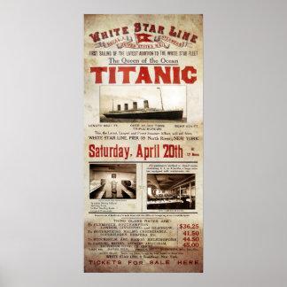 1912 TITANIC - QUEEN of the OCEANS Poster