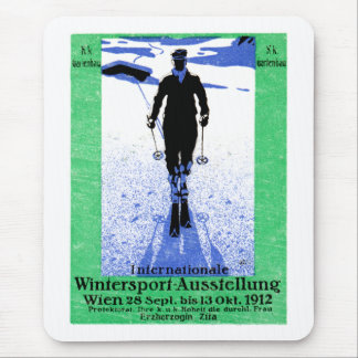1912 Vienna Winter Sports Poster Mouse Pad