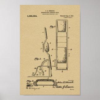 1912 Vintage Chiropractic Table Patent Art Print