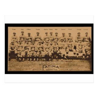 1913 Boston Red Sox Fatima Tobacco Card Print Postcard