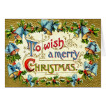 1913 To Wish a Merry Christmas Vintage Cards