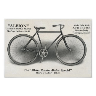 1913 Vintage Albion Bicycle Ad Art Poster