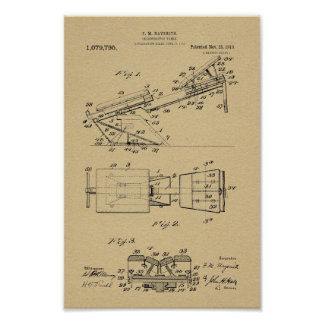1913 Vintage Chiropractic Table Patent Art Print