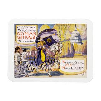 1913 Women's rights march Washington DC Rectangular Photo Magnet