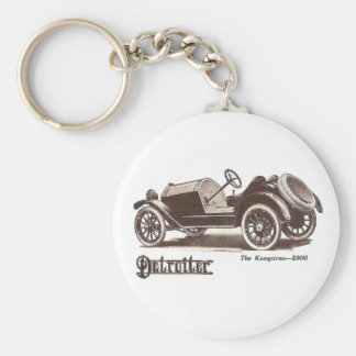 1914 Detroiter Auto Illustration Keychain