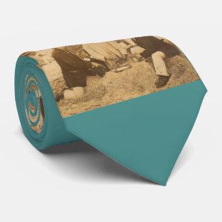 1914 fun on the beach in Germany RPPC Tie