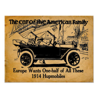 1914 Hupmobile Reproduction Print