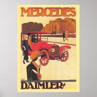 1914 Mercedes Benz Daimler Poster