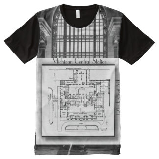 1914 Michigan Central Station Detroit All-Over Print T-Shirt